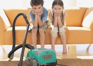 Дети и уборка