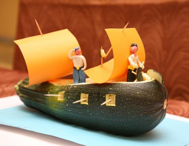 Поделки из овощей и фруктов в школу на выставку своими руками