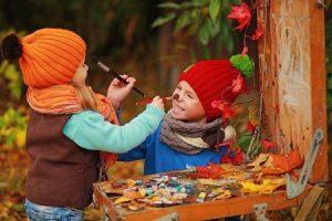рисунок, осень, дети, мальчик, творчество