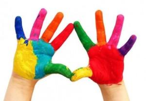 Блог читателя: наши пальчиковые раскраски