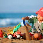 Игры с песком для деток 1-3 лет