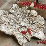 Мастер-класс: делаем гипсовое блюдо из листьев
