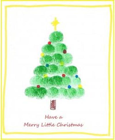 Нарисовать открытку на новый год для детей