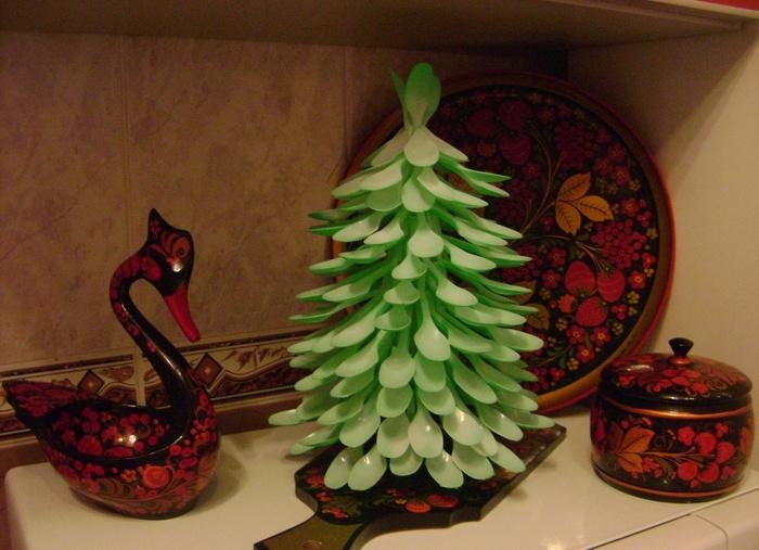 Поделки елок своими руками из вилок