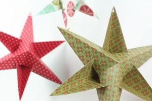 Новорічні доробки: як зробити об'ємну зірку з кольорового паперу