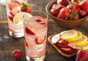 морс, клубника, напитки, ягоды