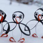 Новогодние поделки: пингвины из картона