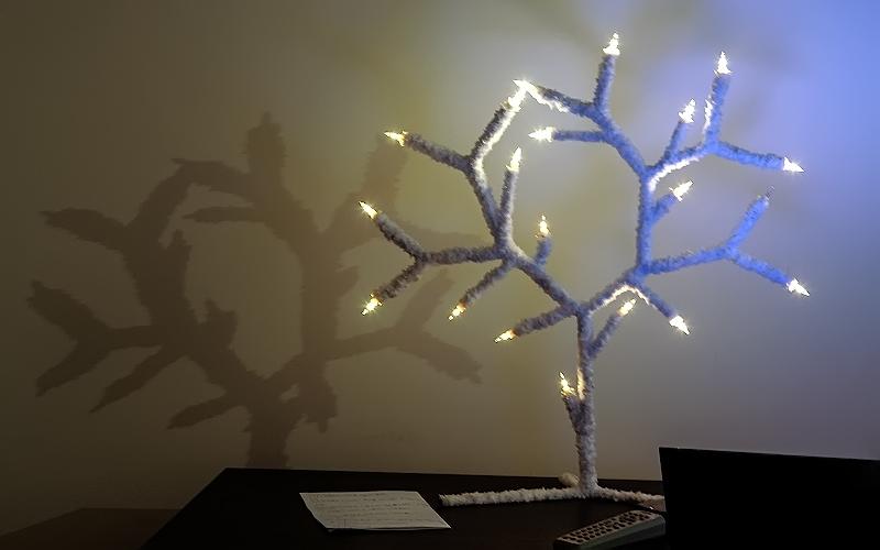 Светильник из гирлянды своими руками дерево