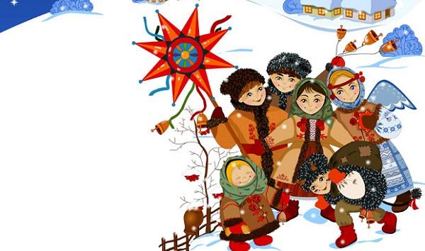 коляда, колядники, щедрування, зима, діти