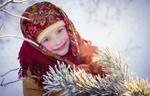 щедрування, колядування, коляда, зима, хустка, сніг, дитина, діти