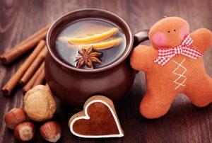 глинтвейн, печенье, рождество