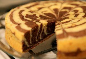 зебра, торт, пирог, десерт