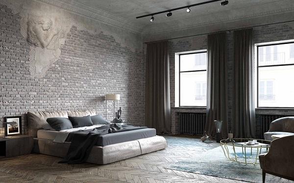 интерьер, дом, мебель, кровать, спальня