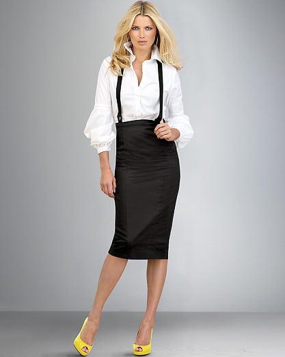 Облегающая юбка ниже колен