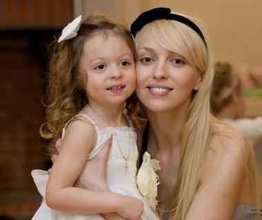Ольга Полякова с дочкой Машей