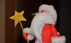 Делаем Деда Мороза из баночки для йогурта