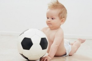 Массаж с мячом для детей 3-6 месяцев