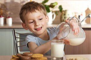 Молоко в рационе ребенка