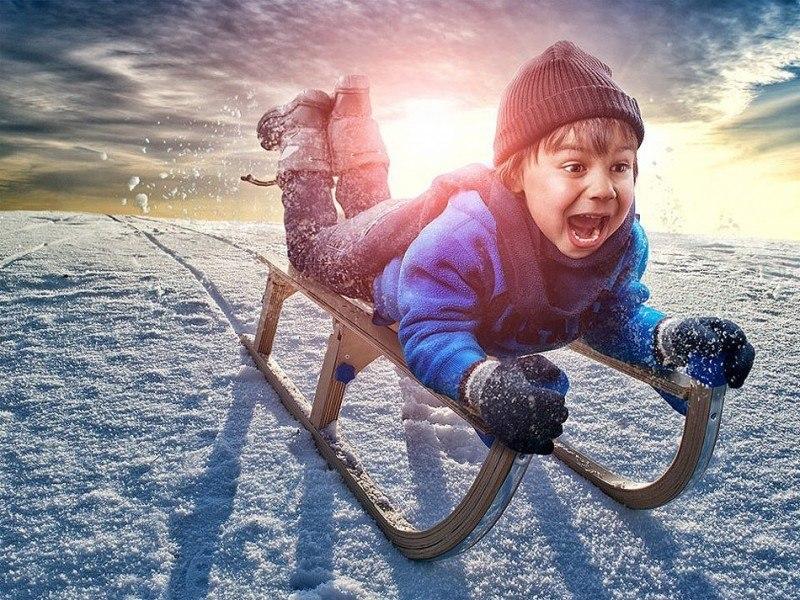 Прикольные картинки с детьми зимой, днем рождения ребенку