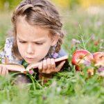 книги, читает, девочка, ребенок, лето