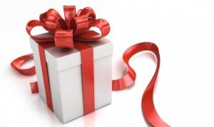 подарок в коробке