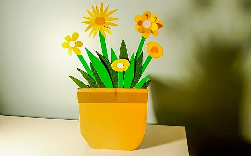Мастер-класс: делаем с ребенком цветочную открытку