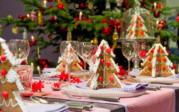 новый год, праздничный декор, елка, сервировка стола, стол,