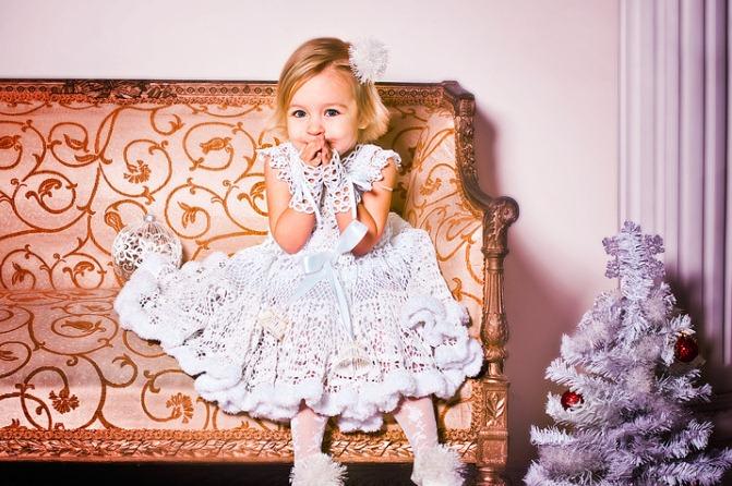 "Новогодний костюм ""Снежинка"" для девочки своими руками"