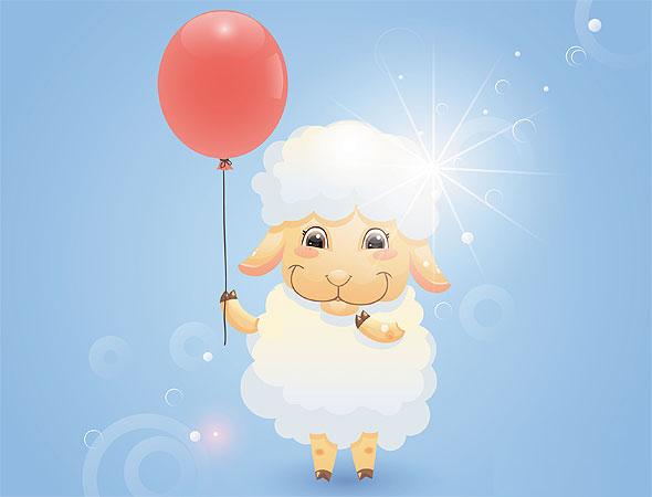 Скрапбукинг, открытки с овечкой
