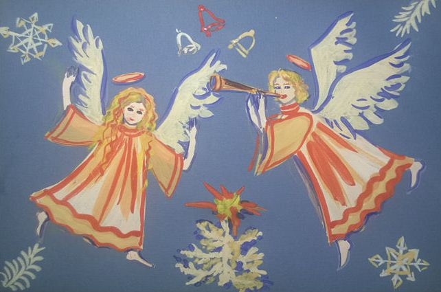 Мастер-класс: рисуем рождественскую картину