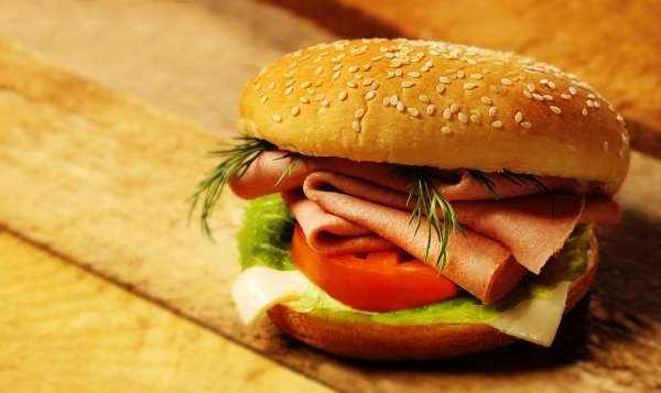 гамбургер, фаст фуд