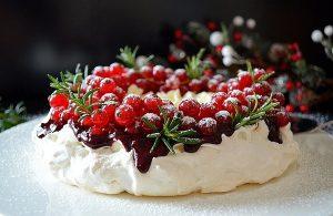 торт безе павлова, новий рік, різдво