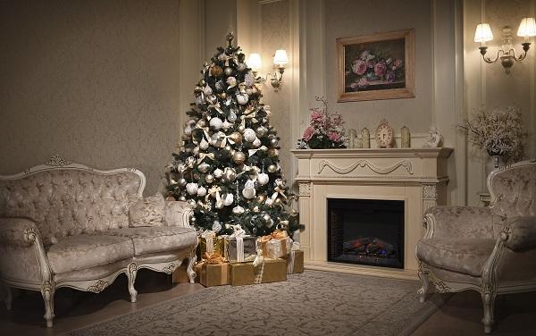 xxl studio, новый год, камин, елка