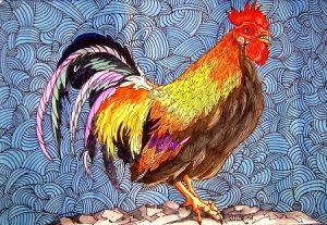 петух, птица, курица