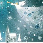 рождество, новый год, зима, снег, ангел