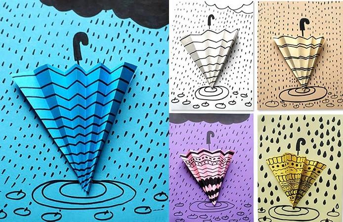 парасолька з паперу