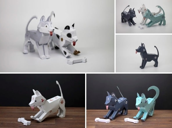 собака з паперу